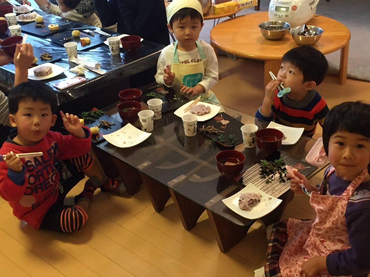 3歳児のおせち料理教室